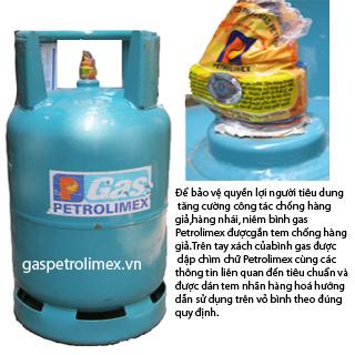 Bình gas Petrolimex van chụp