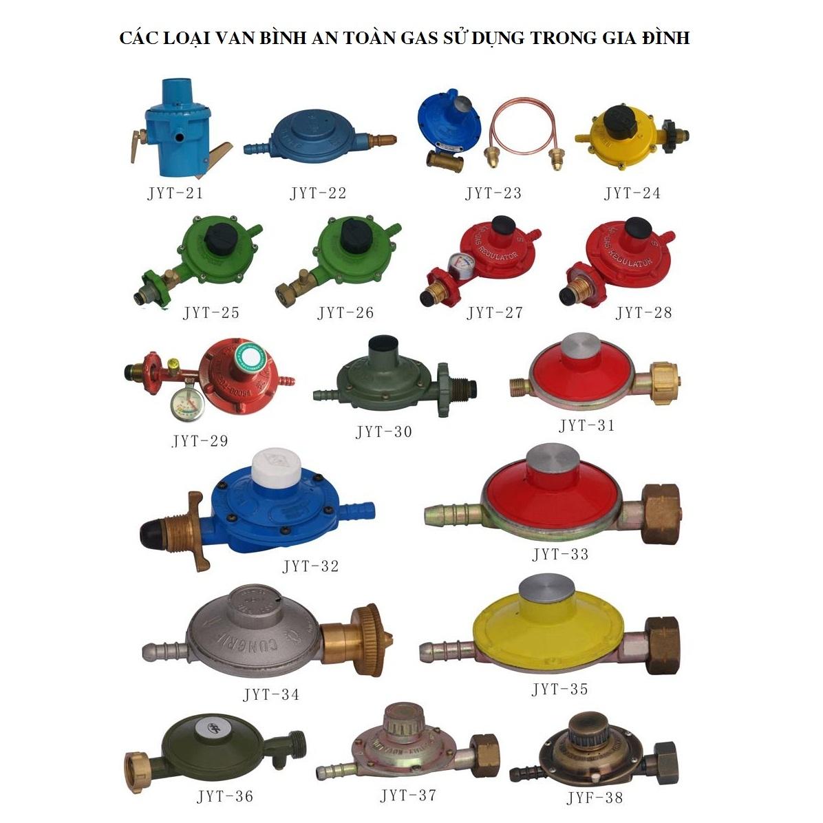 Các loại van điều áp gas phổ biến trên thị trường