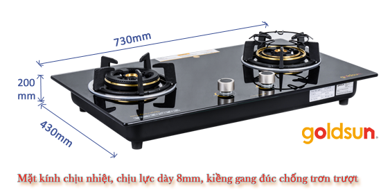 chọn bếp gas âm có kích thước phù hợp