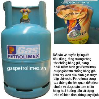 Bình gas Petrolimex van ngang