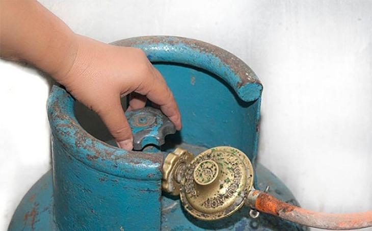 không khóa van gas cẩn thận