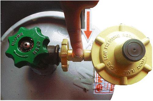Sử dụng van điều áp gas an toàn