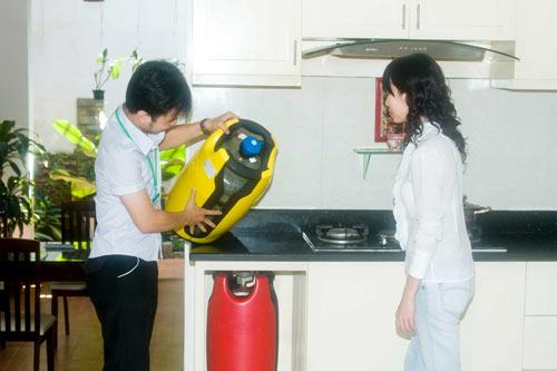 Cần đặt bình gas, van điều áp gas ở nơi an toàn