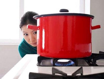 bếp gas được sử dụng phổ biến trong các gia đình