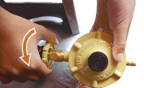 Sử dụng van gas an toàn